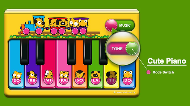 Cute Piano App (Mode Switch)
